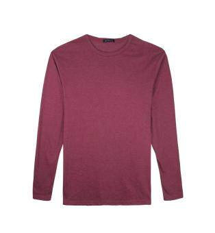 Harga F.O.S NAVY & NAVY MEN'S BASIC MELANGE RED LONG SLEEVED TEE