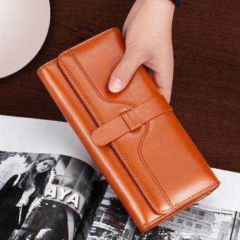 Harga Women Long Purse Ladies Long Wallet Big Capacity Handheld Purse Handbag New Fashion PU Wallet