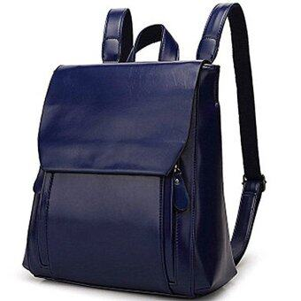 Harga 2016 Famous Brand Mansur Gavriel Women Real Leather Backpack Lady Genuine Leather Backpack Leather Schoolbag - Blue