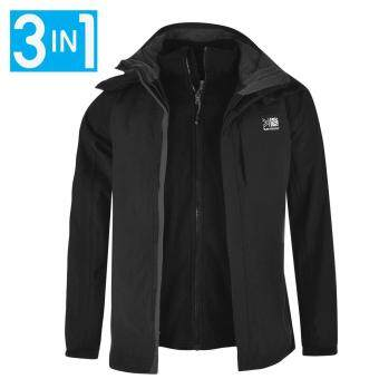 Harga Karrimor Mens 3in1 Jacket Mesh Lining Concealable Hood Water Resistant Black