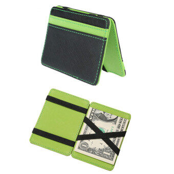 Harga New South Korea Styles Magic Wallet Men's Wallet Magic Money Clips Men Purse Fashion Wallet Originality Wallet (Green)