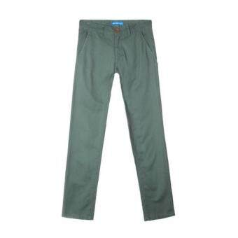 Harga F.O.S NAVY & NAVY MEN BASIC DARK GREEN LONG PANTS CHINO