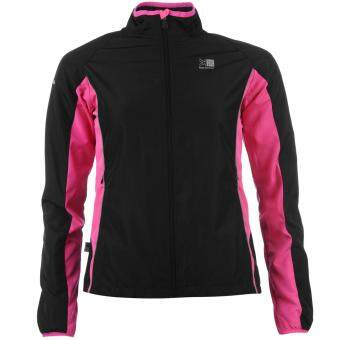 Harga Karrimor Womens Ladies Running Jacket Long Sleeve Zip Fastening Coat Top Black/P
