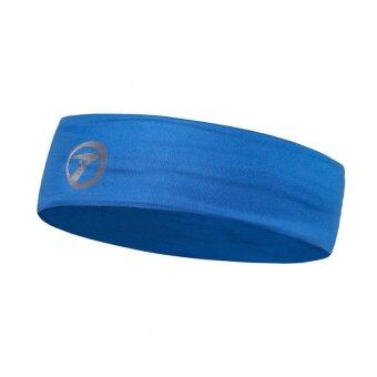 Harga Loveu Women Men High Elastic Seamless Sports Sweatband Stretch Headband Yoga Gym Sports Head Hair Band - Blue