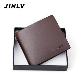Harga A Short Section of Young Men Men Wallet Genuine Leather Slim Clip Mens Wallet Purse Simple Tide South Korea Students