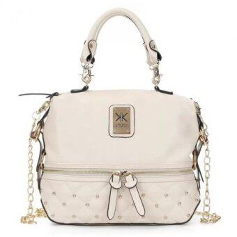 Harga Kardashian Kollection Large Stud Grip Bag (Beige)