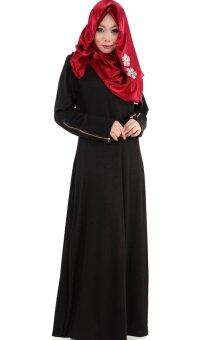 Harga JF Fashion Annah Zipped Jubah M358 (Black)