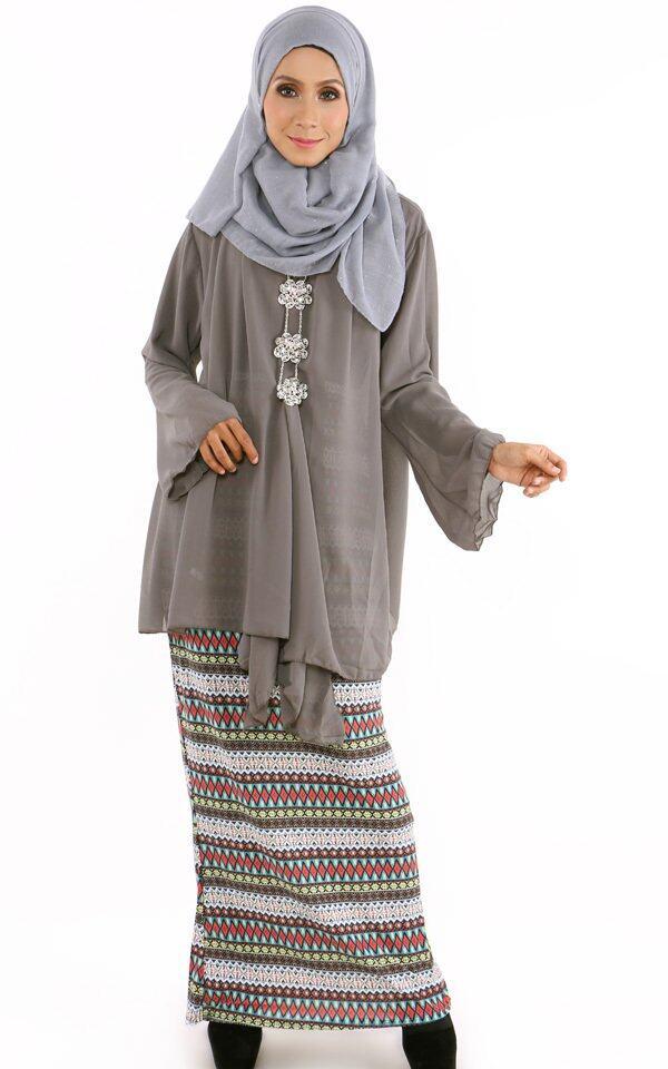 JF Fashion Zalia Chiffon Cardigan Y897 (Grey) | Lazada Malaysia