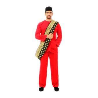 Kamdar Jumaart Mens Baju Melayu Johor-Red