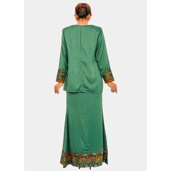KAMDAR LADIES SAFILA SONGKET BAJU KURUNG -Green - 5