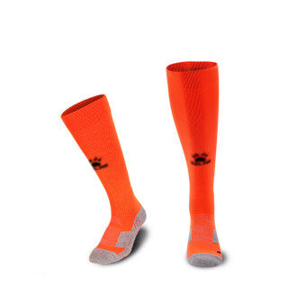Kelme K15Z908 Men Wearable Antiskid Football Match Stockings (Orange Black)