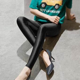 L-5XL Women Spring Summer High Elastic Soft Leggings Large PlusSize Trousers Slim Thin Skinny Pants
