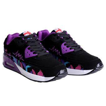 LALANG Women Casual Sports Shoes Sneakers Breathable Outdoor Walking Running Shoes Purple - 4
