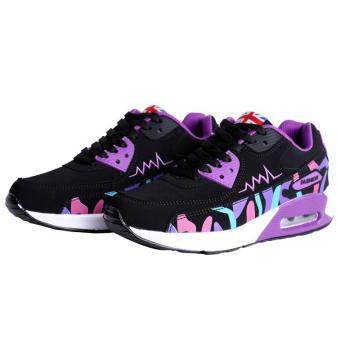 LALANG Women Casual Sports Shoes Sneakers Breathable Outdoor Walking Running Shoes Purple - 3