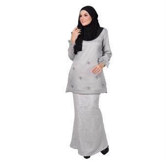 Lara Nour Baju Kurung Husna (Grey)