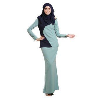 Lara Nour Baju Kurung Moden (Navy blue)