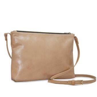 Latinas Genuine Leather Casual Sling Bag (Beige) - 2