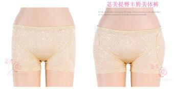 cbda2083441 Shop Online Low-waist nice bottom pants plus pad hip pad bottom pants hip  pantsfake ass fake hip 8995 (Light yellow) in Malaysia