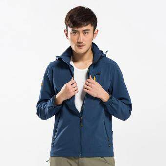 Man's Outdoor Hiking Mountain Climbing Soft Shell WaterproofBreathable Durable Wind Breaker Jacket