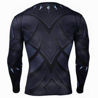 Men Compression Tight T-shirt Long Sleeves Prints Base Layer(Type4) - 3