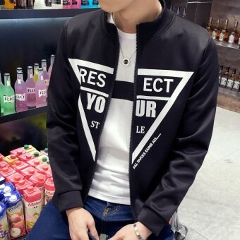 Men's Korean-style Slim Fit Leisure Cardigan Sweater (Your-white) - 2
