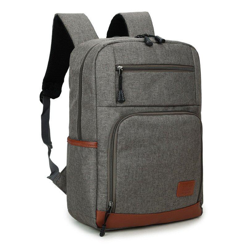 """Mens Backpack 14"""" 15"""" Laptop Back Bag Leisure Travel Bag - Grey ..."""