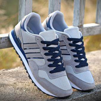 Mens Casual Fashion Sneakers Sports Outdoor Jogging Walking RunningShoes Grey
