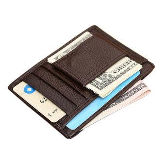 Mens Wallet Credit ID Card Holder Brown