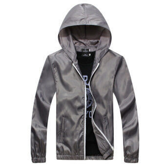 Mens Waterproof Sports Jacket Thin (Grey) | Lazada Malaysia