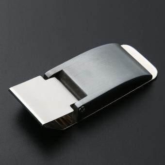 Metal Stainless Steel Money Clip Holder Folder Collar Clip(Silver) - 4