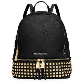 Michael Kors Rhea' Stud Leather Backpack