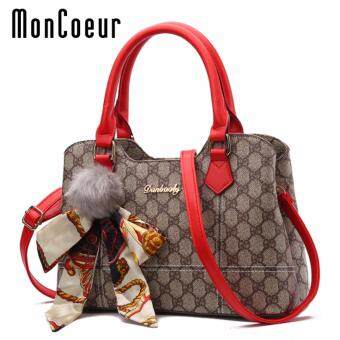 Harga MonCoeur 007 European Elegant Premium PU Handbag Cross body SlingBag (Red)