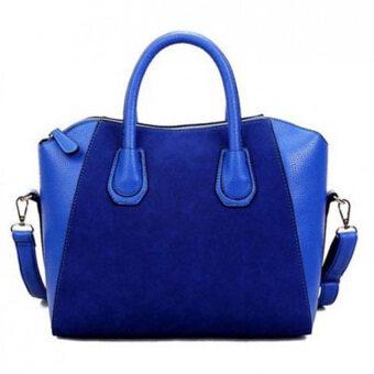 MonCoeur Elegant Faux Leather Handbags (Blue)