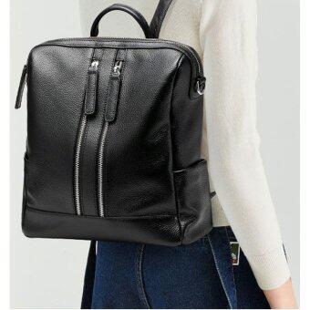 Munoor Italian 100% Genuine Leather Women Backpacks Shoulder BagsTravel Hoders - 4
