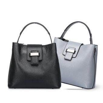 Munoor ITALIAN Women Tote Bags 100% Genuine Cow Leather Fashionable Shoulder Bags Crossbody Travel Holder (Light Grey) - 5
