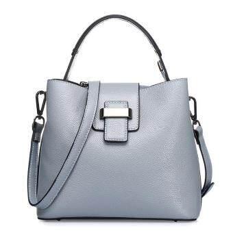 Munoor ITALIAN Women Tote Bags 100% Genuine Cow Leather Fashionable Shoulder Bags Crossbody Travel Holder (Light Grey) - 3