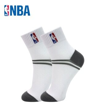 NBA Men's Breathable Mesh Combed Cotton Socks (Bleach/cold gray)
