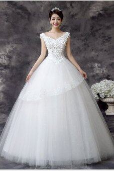new design white wedding dress lace wedding gown lazada malaysia