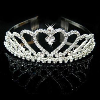 New Elegant Luxurious Diamante Rhinestone Crown Wedding Party BrideGift