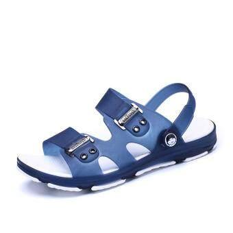 New Fashion Men's Sandals, Beach Slippers, Summer Shoes, Cool Non-slip. (blue) - 2