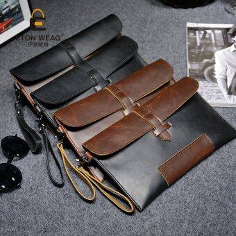 Review New Korean Clutch Old School Messenger Bag Men