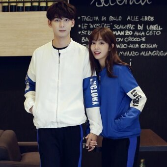 bcf8b9b120 Online New style men and women Couple wear Spring and Autumn Ji Weiyi  zipcardigan junior high school student fashion casual sports suitclass  service ...