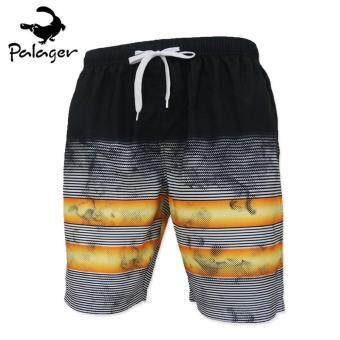 Palager Summer Men Beach Shorts Plus Size M-6XL Elastic MensSwimming Short Quick-Drying High Quality Pants - Yellow