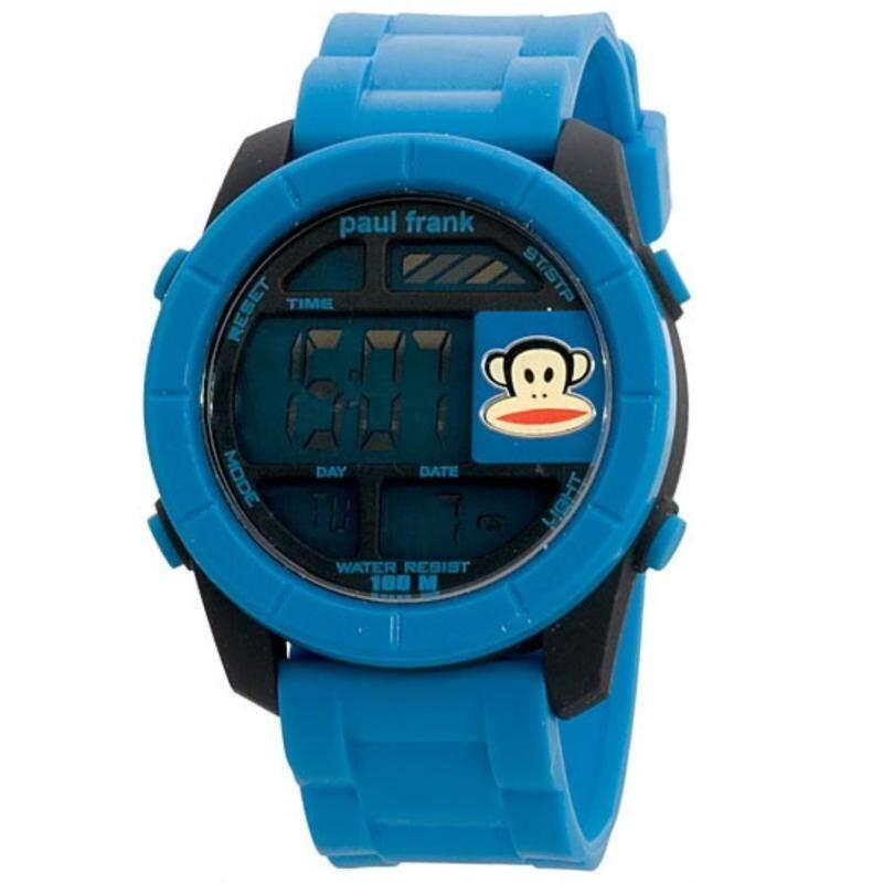 Paul Frank Mens Blue Rubber Strap Digital Watch PFSQ1117-01C Malaysia