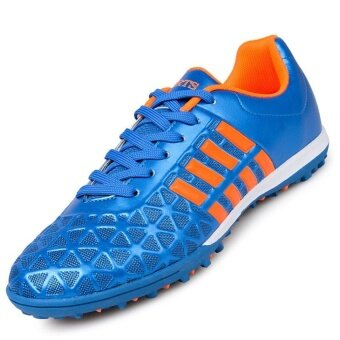 b8d7fe8f9af0 PINSV Men's Outdoor Soccer Boots Turf Indoor Soccer Futsal Shoes(Blue)  Online Shopping in Malaysia
