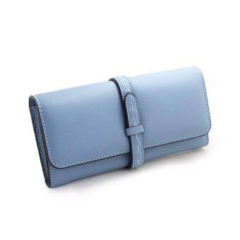 Polly Molly Trendy 3fold Premium PU Leather Wallet 4226_Blue