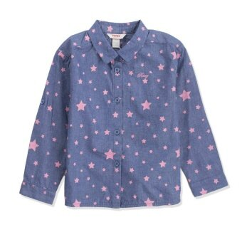 PONEY ALL-OVER STARS PRINT BLOUSE (BLUE)