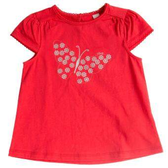 PONEY BUTTERFLY PRINT TEE (RED)