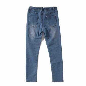 PONEY LOVE DENIM LONG PANTS (NAVY BLUE) - 4