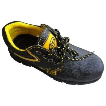 RCS Steel Safety Shoe, Cow Leather, Low Cut Boot (Black) - Static, Fire Retardant Safety Shoe - 4